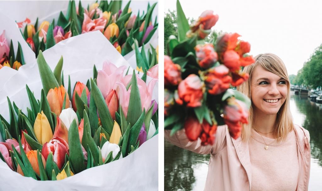 Les tulipes sont partout au printemps à Amsterdam