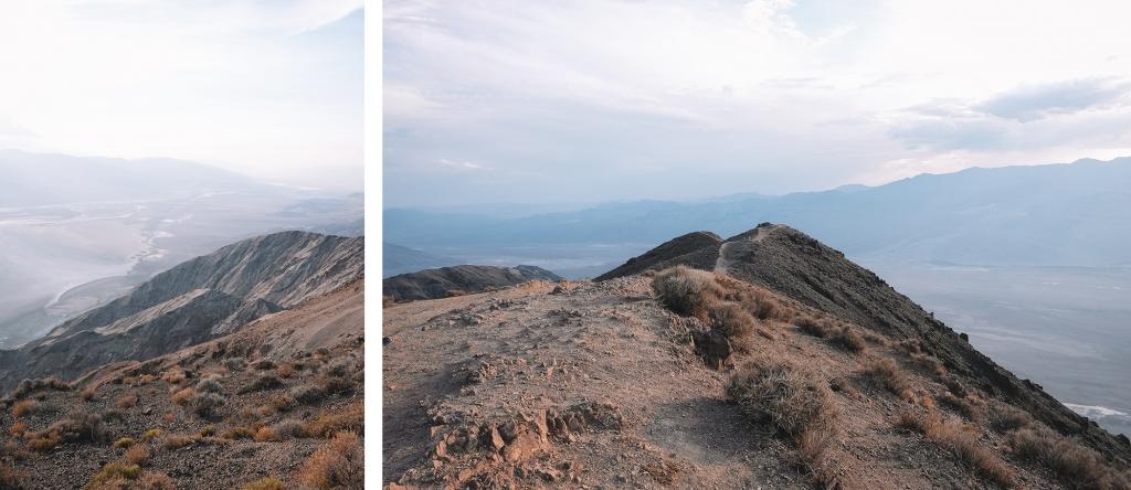 Le point de vue Dante's View dans la Vallée de la Mort