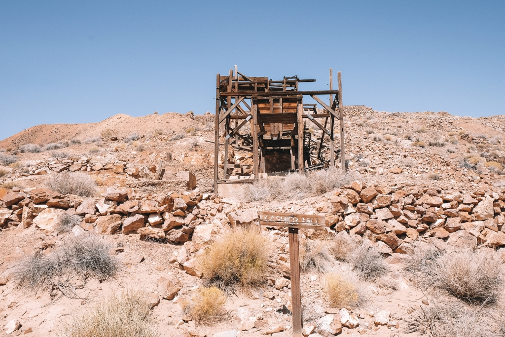 Les vestiges d'Eureka Mine