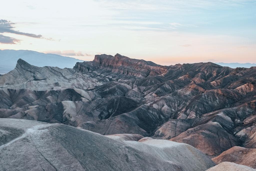 Zabriskie Point au coucher du soleil