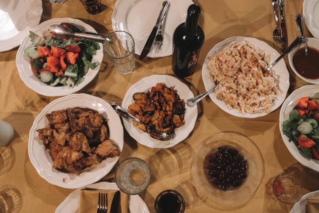 Le repas est servi.