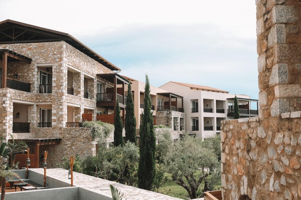 L'architecture du Westin Resort à Costa Navarino.