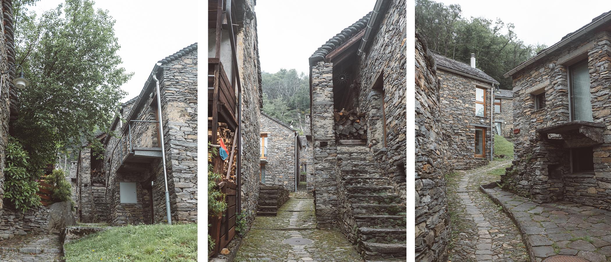 Les rues du pittoresque village de Curzutt