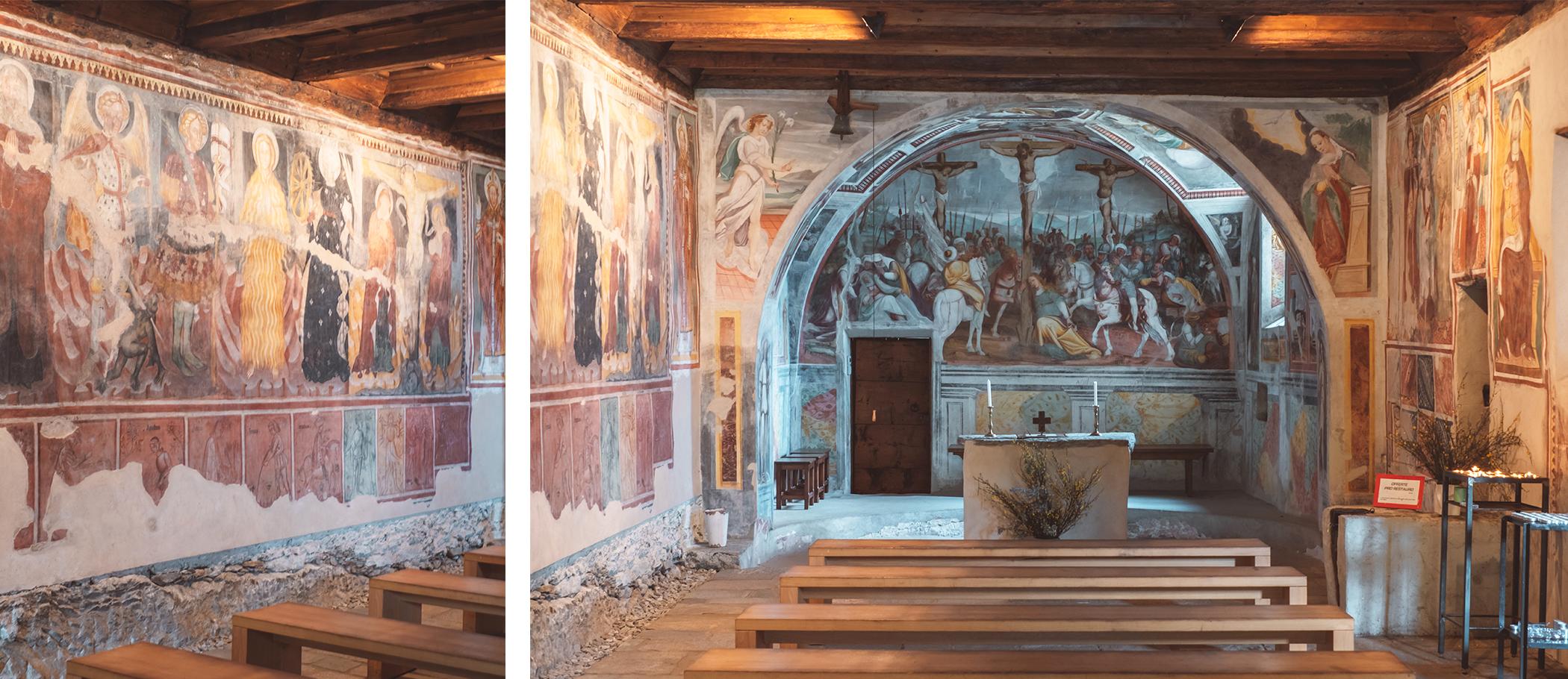 Les fresques de l'église romane Saint-Bernard