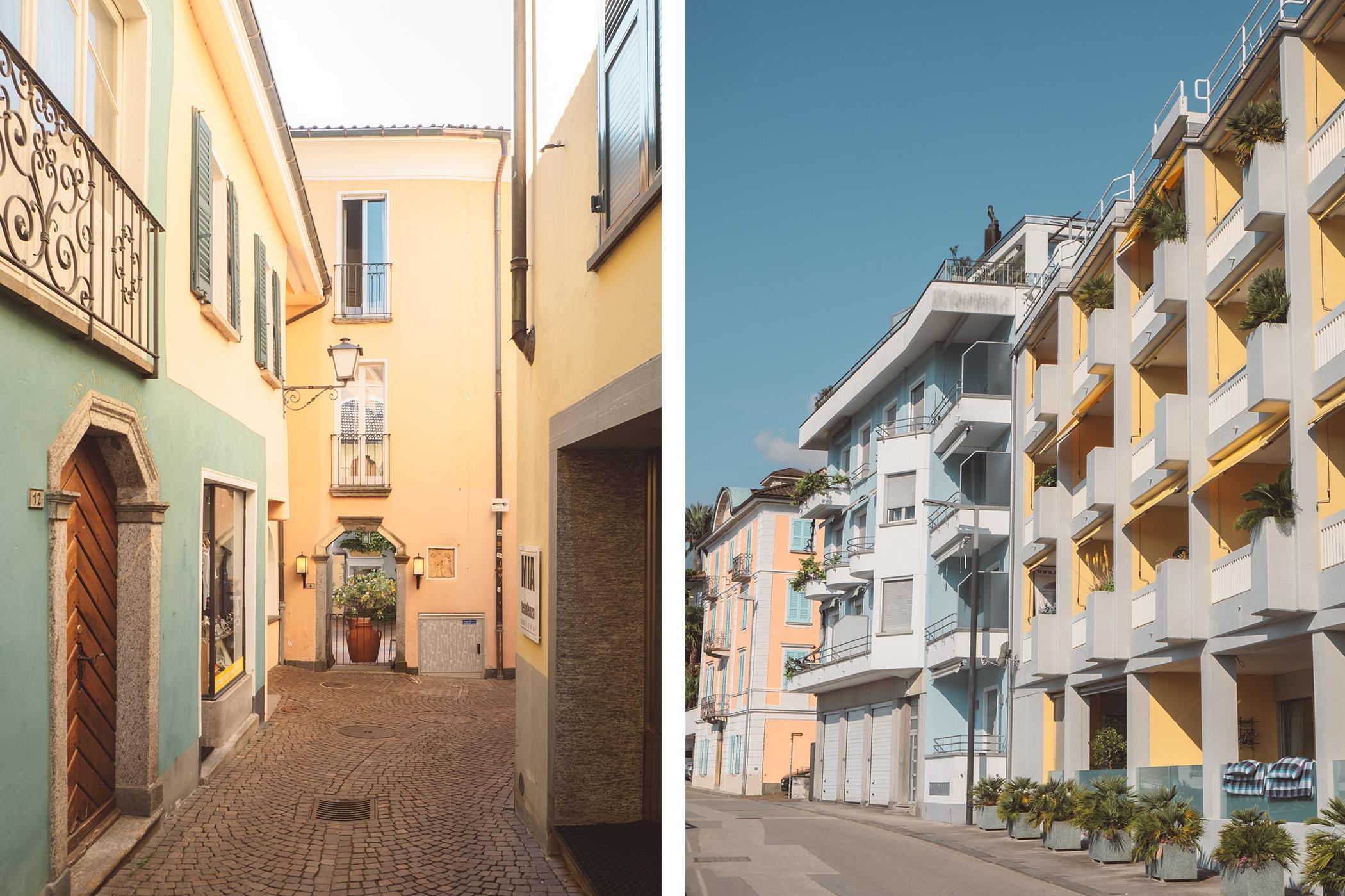 Des façades pastel des bâtiments d'Ascona