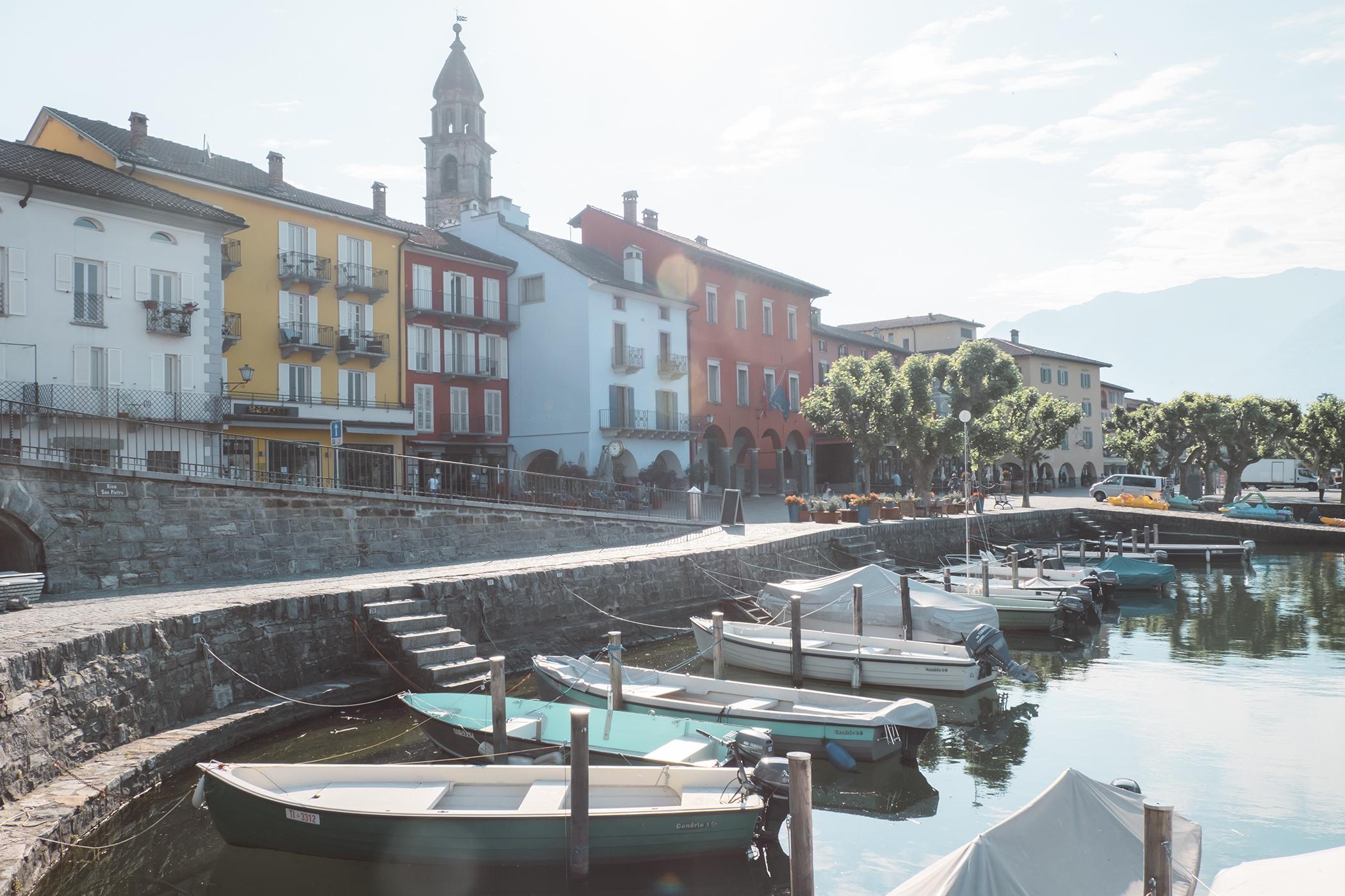 Le port et la promenade d'Ascona