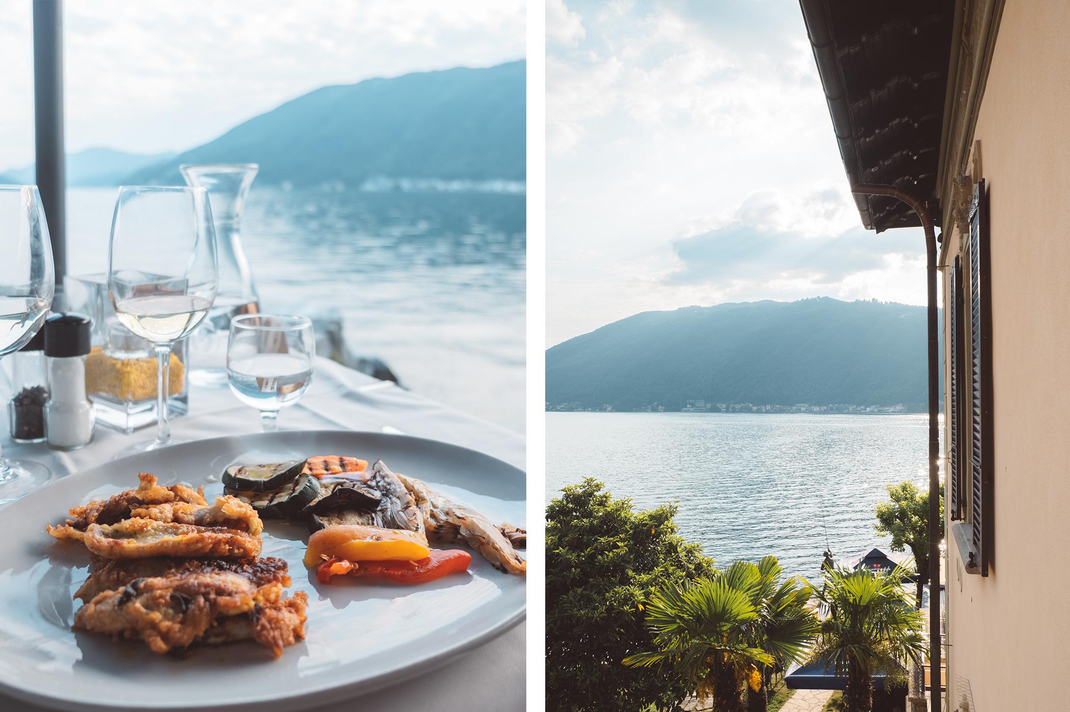 Repas à l'hôtel La Palma au bord du lac