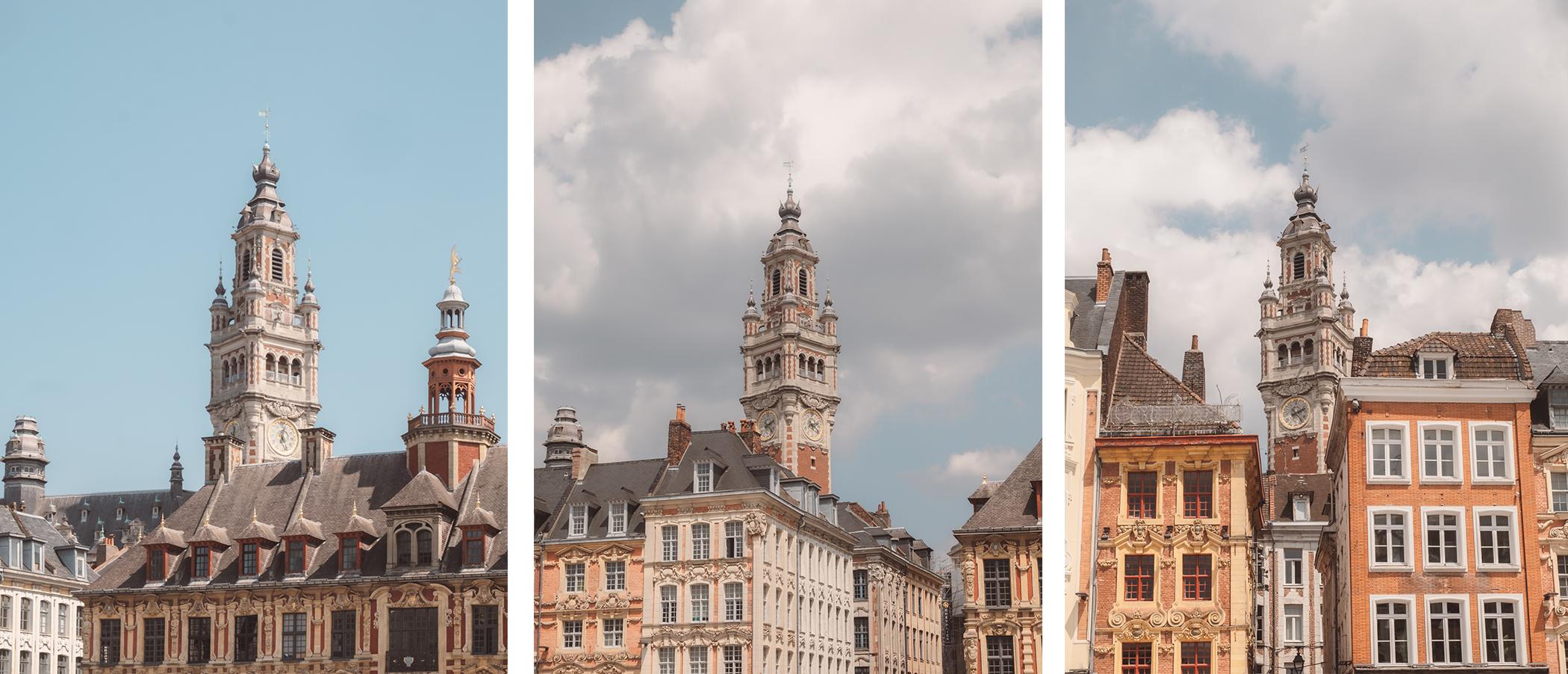Différentes vues du Beffroi de Lille
