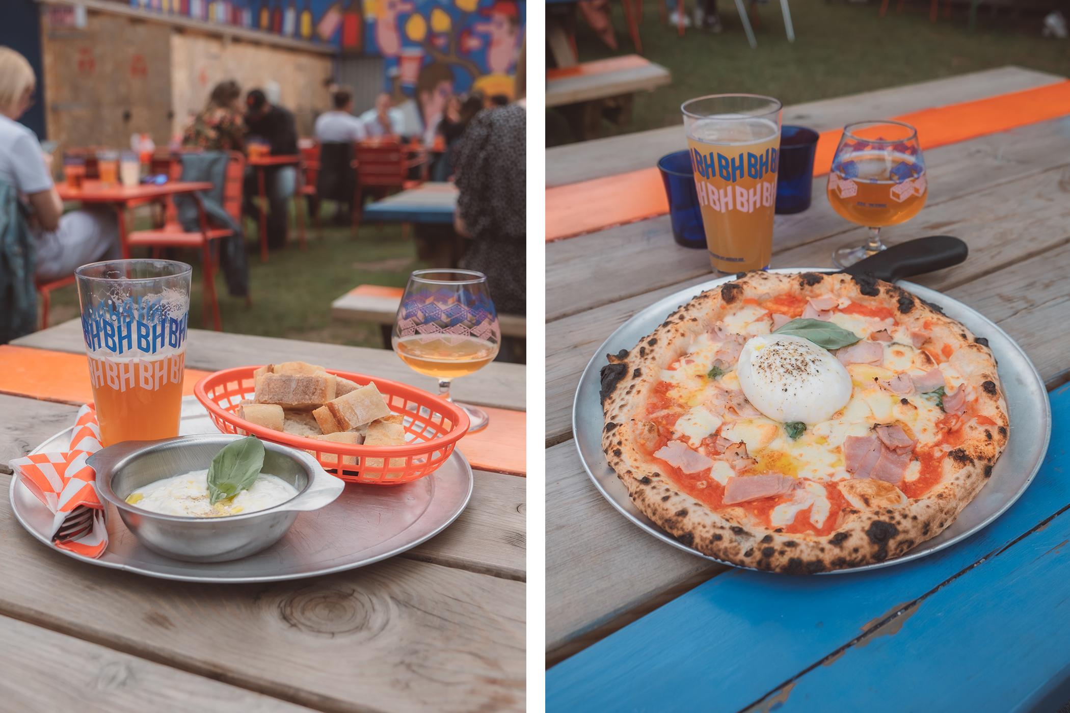 Les bières et pizzas chez Brique House