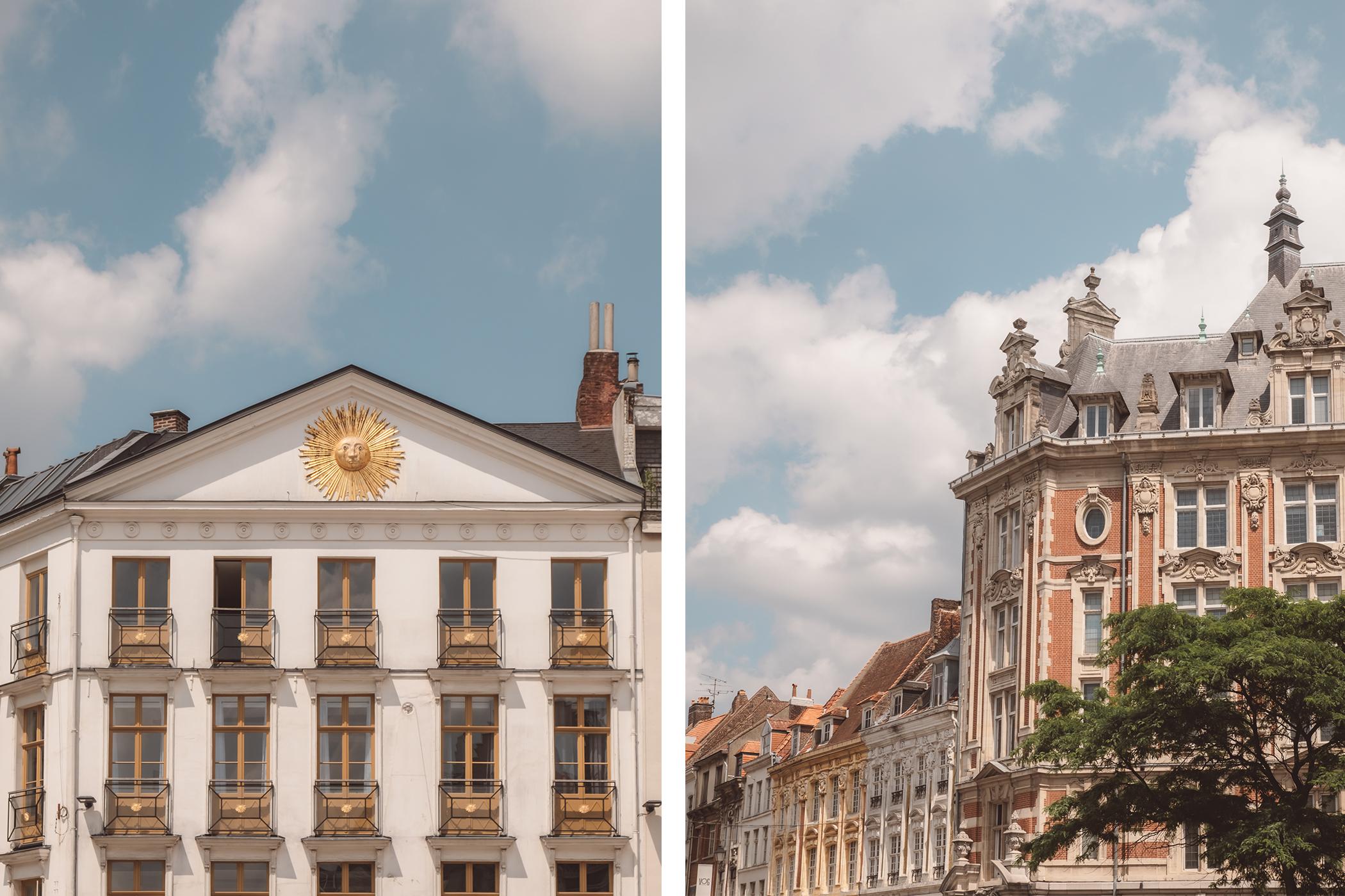 De jolies façade bordant la Grand Place