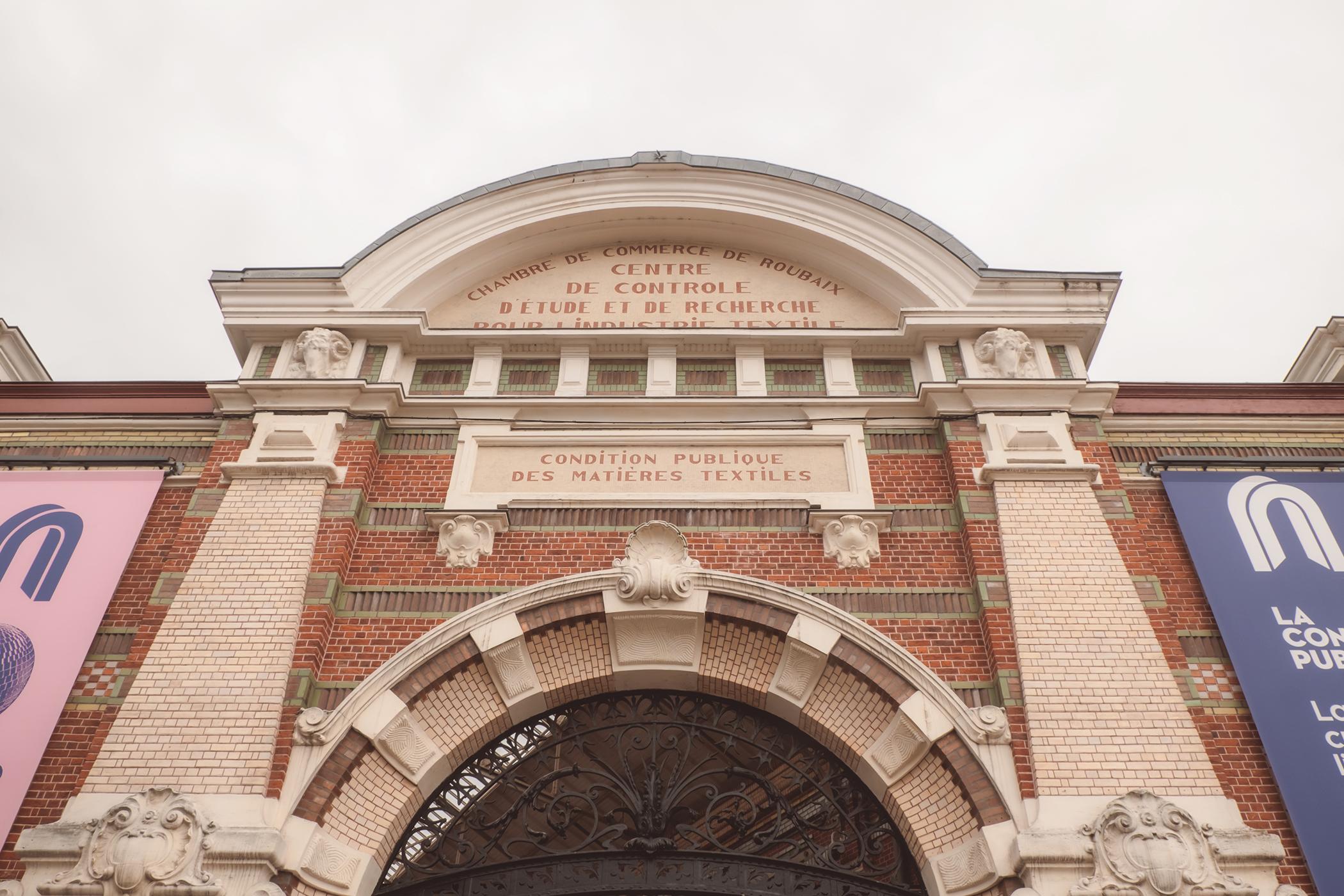 La façade de la Condition Publique à Roubaix