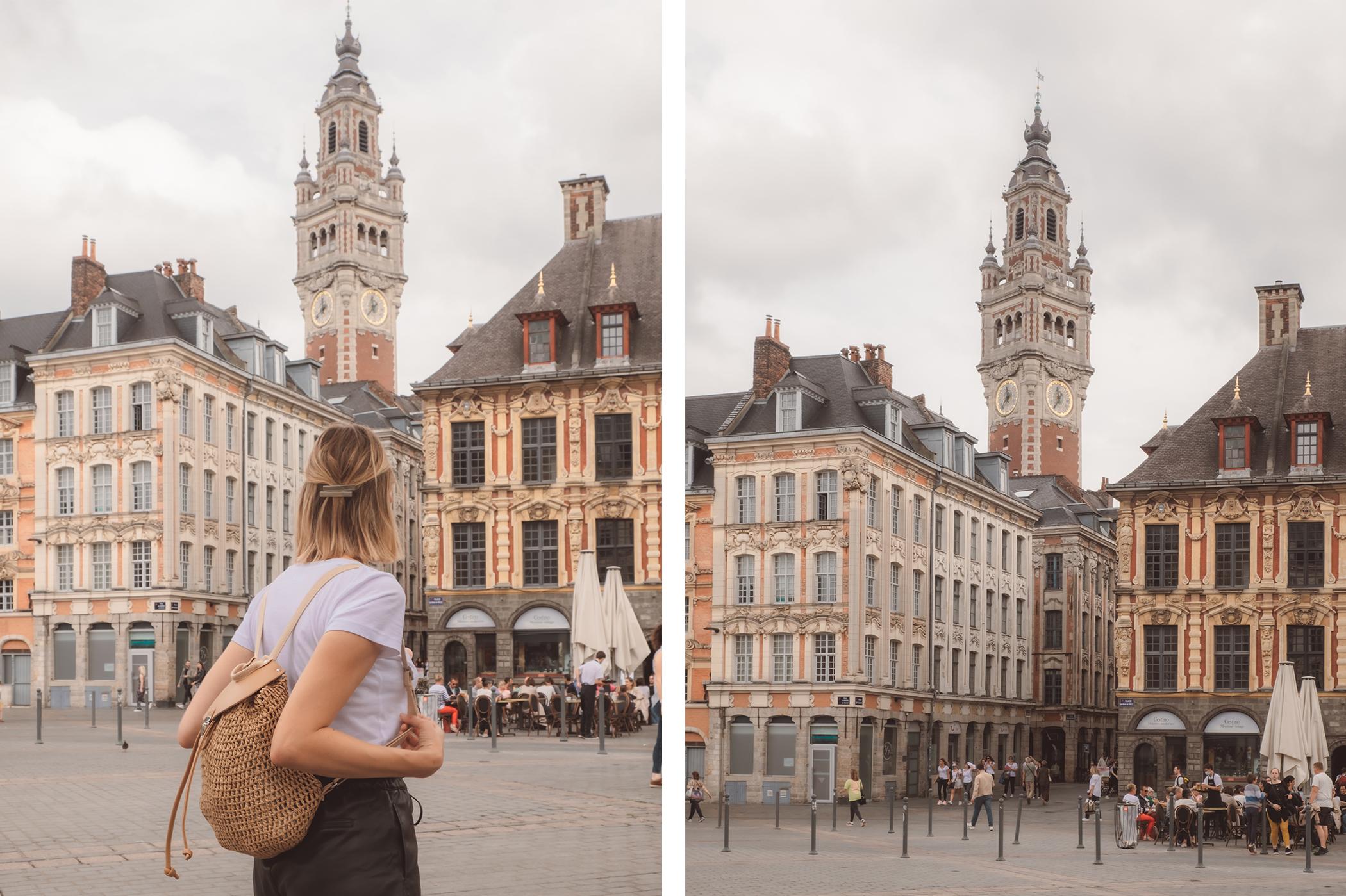 Le Beffroi de Lille vu depuis la Grand Place